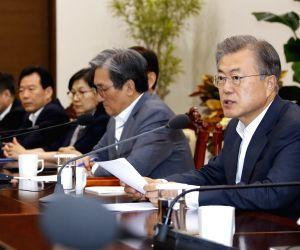 President Moon Jae-in meeting with secretaries