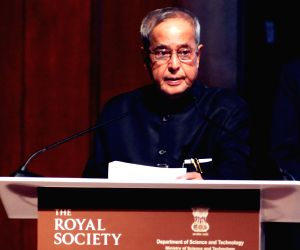 President Mukherjee during the Commonwealth Science Conference