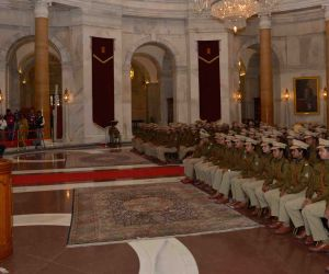 President Mukherjee with the Officer Trainees of 67 RR (2014 Batch) of IPS