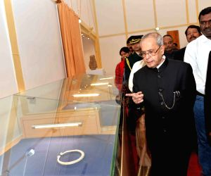 President Mukherjee at the inauguration of a Art Gallery