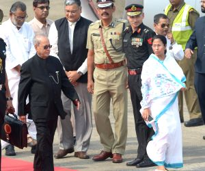 President Mukherjee at NSCBI airport