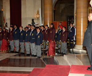 President Mukherjee presents sports awards