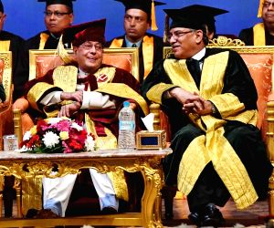 President Mukherjee during the Special Convocation of Kathmandu University