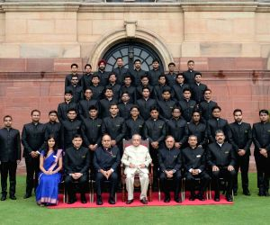President Mukherjee meets IES trainees