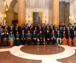 President meets with the probationers of 65th Batch of the Indian Revenue Service