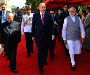Pranab Mukherjee, Narendra Modi receives Recep Tayyip Erdogan