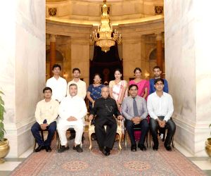 President Mukherjee meets students and faculty of Gauhati University