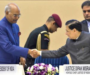 President Ram Nath Kovind, Sumitra Mahajan, CJI Dipak Misra inaugurates National Law Day Celebrations