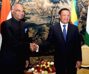 President Kovind meets his Ethiopian counterpart