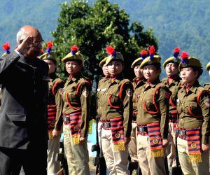 President Kovind arrives at Arunachal Raj Bhavan