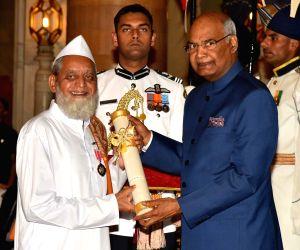 Civil Investiture Ceremony - Padma Shri - Ibrahim. Nabisaheb. Sutar
