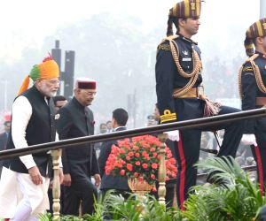 Republic Day 2018 - Kovind arrives at Rajpath