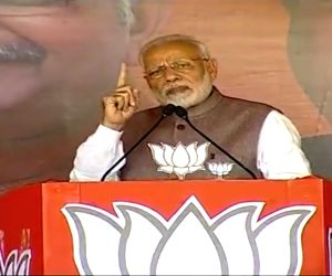 PM Modi at a public meeting in Chhattisgarh
