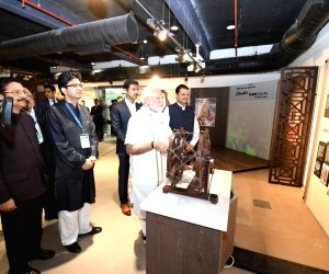 Prime Minister Narendra Modi accompanied by Maharashtra Governor C. Vidyasagar Rao, Chief Minister Devendra Fadnavis, Union Minister Rajyavardhan Singh Rathore and Central Board of Film ...