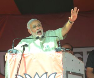 Modi during a rally