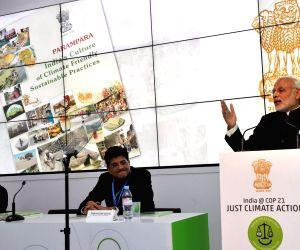 Paris (France): COP21 Summit - Inauguration of the India Pavilion