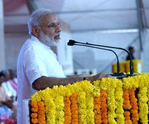 Modi addresses at Kandla Port