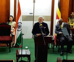 Kampala (Uganda): PM Modi addresses at Ugandan Parliament