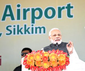 PM Modi addresses at the inauguration of Sikkim's first airport