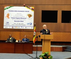 Kampala (Uganda): PM Modi addresses at India-Uganda Business Forum