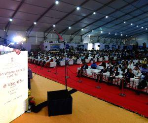 Modi lays stone for world-class convention centre in Delhi