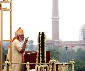 PM Modi addresses the nation from Red Fort on 74th Independence Day