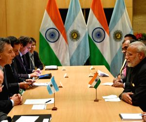 Johannesburg (South Africa): Narendra Modi meets Argentina President