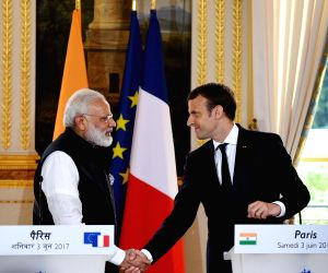 Modi, Emmanuel Macron - joint press meet