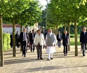 : Berlin: Modi-Merkel meet at Schloss Meseberg