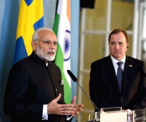 Modi, Swedish PM at the Joint Press Statement