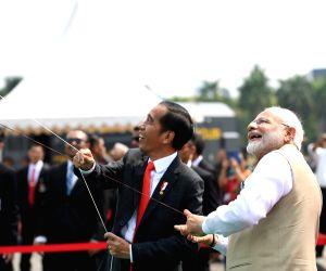 Jakarta (Indonesia): India-Indonesia Kite Exhibition - PM Modi, Indonesian President