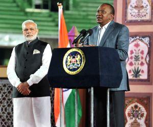 Modi-Kenyatta at Community Reception