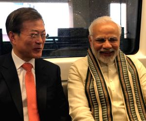PM Modi, South Korean President take metro ride to inaugurate world's largest mobile factory