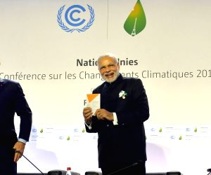 Paris (France): Modi at launch of the International Solar Alliance