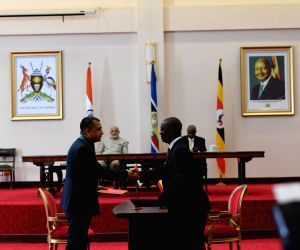 Kampala (Uganda): PM Modi, Uganda President witness signing and exchange of agreements