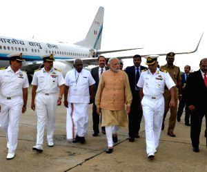 Modi conducts aerial survey of the rain hit area in TN
