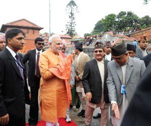 Kathmandu (Nepal): PM Modi visits Pashupatinath Temple