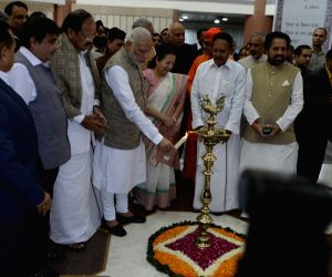 New Delhi:  Modi at the inauguration of an exhibition on making of the Constitution by the Constituent Assembly