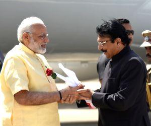 Madurai (Tamil Nadu): Modi arrives in Madurai