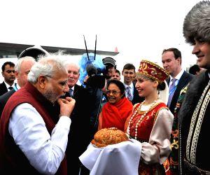 PM Modi arrives at Ufa