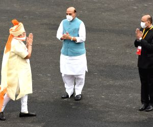 PM Modi during 74th Independence Day celebrations at Red Fort