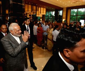 Indian community welcomes Modi in Philippines