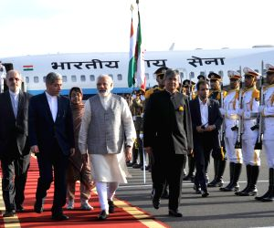 Modi arrives in Iran