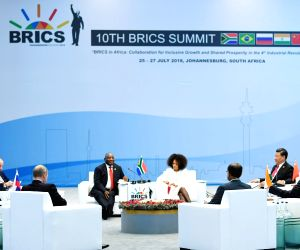 Johannesburg (South Africa): BRICS Leaders' at 'Special Retreat Session'