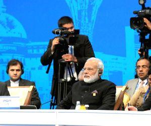 Astana (Kazakhstan): SCO Summit - extended format meeting - Modi