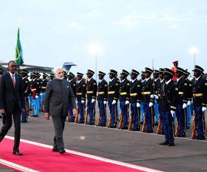 Kigali (Rwanda): PM Modi arrives in Kigali