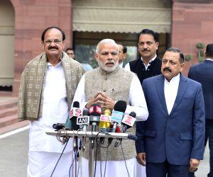 Modi interacts with media