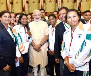 Modi meets  India's Rio Olympic-bound athletes