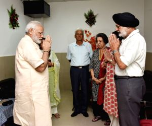 PM Modi visits ailing IAF Marshal and meets his family