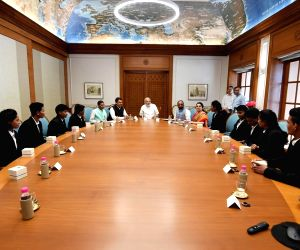 Modi meets members of Mission Shaurya Team